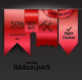 Paquete de cinta roja estilo colgante brillante