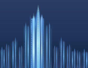 Resumen se desvaneció fondo de negocio digital azul