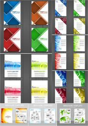 Plantilla de paquete de folleto y folleto creativo