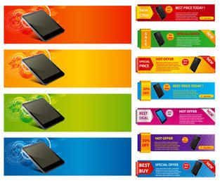 Promotional Colorful Sales Banner Pack