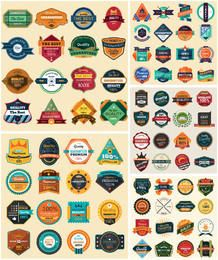 Modern & Vintage Abstract Label & Badge Pack