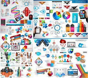 Glänzende Infographic-Paketschablone des kreativen 3D