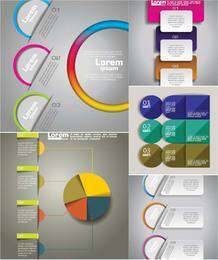 Paquete de plantillas de infografía de negocios