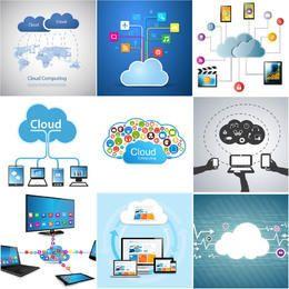 Conjunto de Design de Computação em Nuvem Criativa