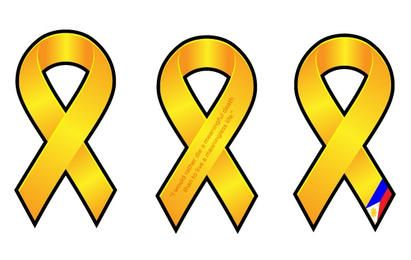 Set of Yellow Ribbons
