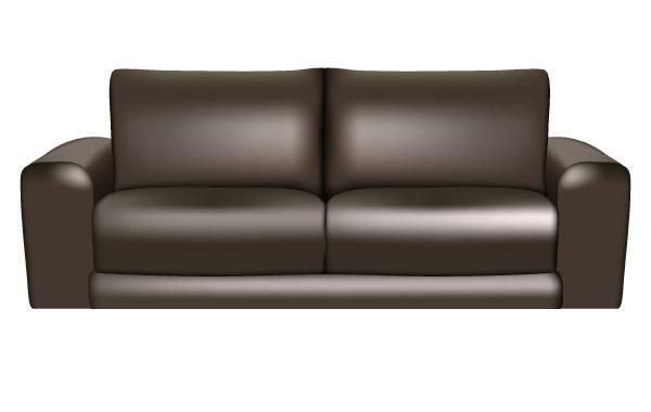 Brown Leather Sofa - Vector download