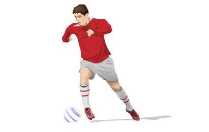 Vector de jugador de fútbol de Christiano Ronaldo