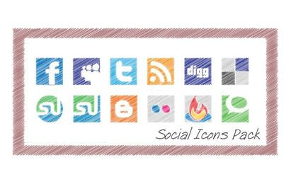 Scribble Social Icons Pack