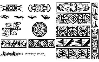 Patrones de cerámica de nativos americanos