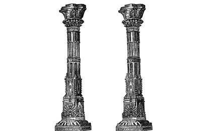 Spalten des alten Tempels