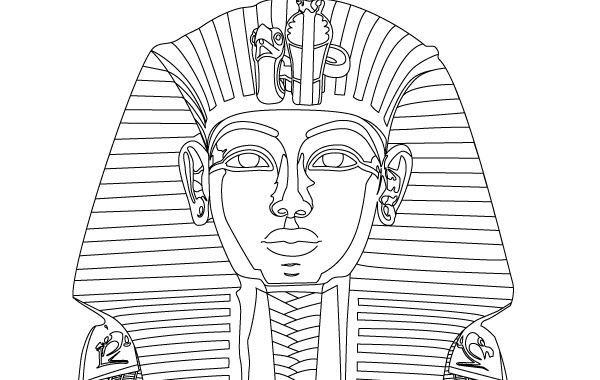 King tut vector vector download for King tut mask template
