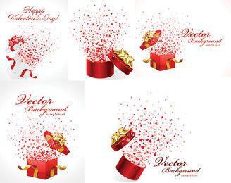 Pacote de caixa de presente de celebração romântica
