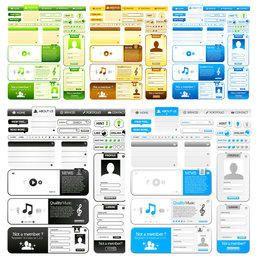 Diseño de contenido hermoso sitio web