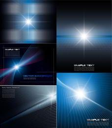 Conjunto de fondo dinámico abstracto luz brillante