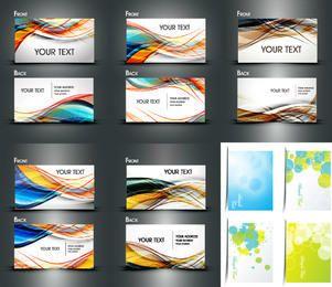 Paquete de tarjeta de presentación dinámica de ambos lados multicolor