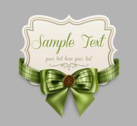 Decorative Floral Ribbon Card Template