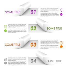 Juego de infografía Creative Flip Edge Paper