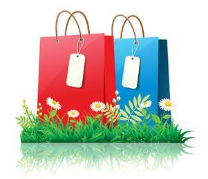 Primavera fresca compras con margaritas