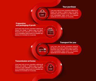 E-Commerce-Geschäft moderne Infographik Vorlage