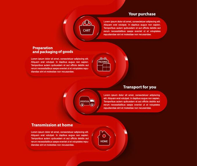 Ecommerce Business Modern Infográfico Template