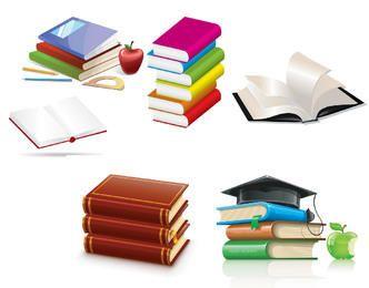 Libro brillante y elementos educativos