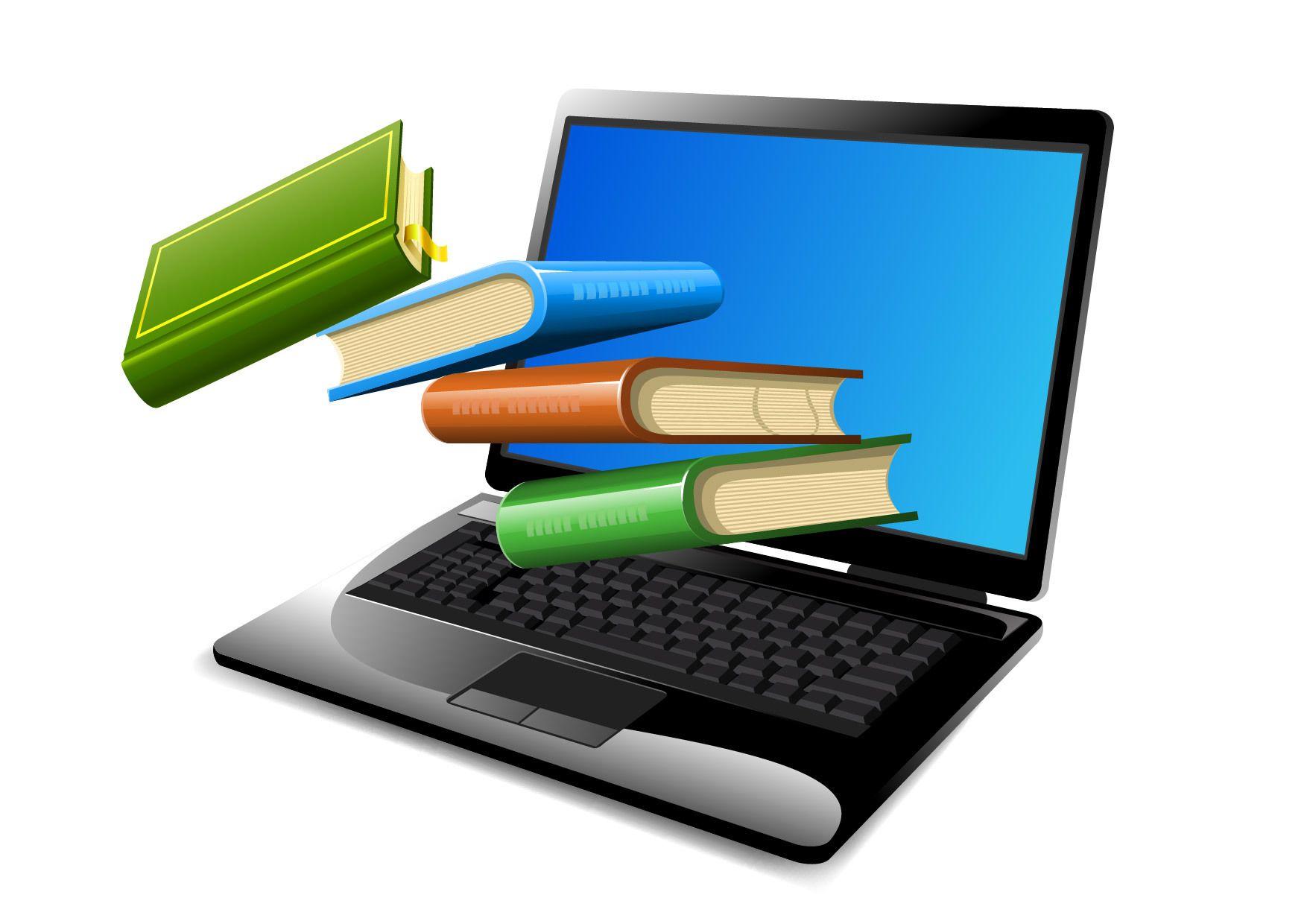 libros flotante en la computadora port u00e1til  inaugurado descargar vector library book clipart for kids library book clip art free