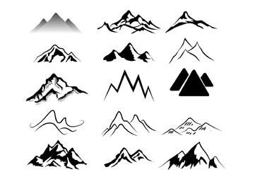 Black & White Abstract Mountains Pack