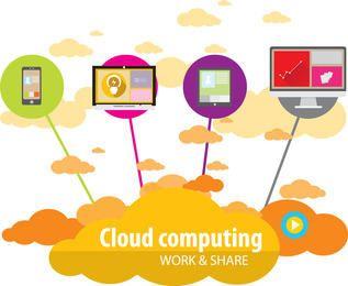 Infográfico de comunicação de tecnologia moderna