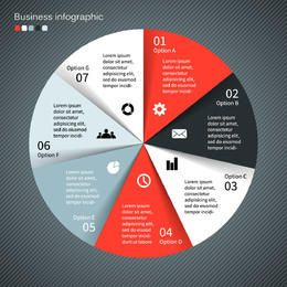 Plantilla elegante redondeada de negocios infografía