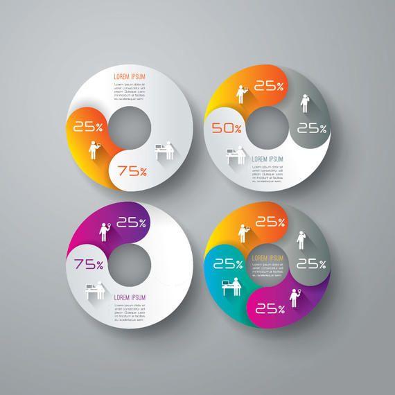 Creativo de gráfico circular de negocios Infografía - Descargar vector