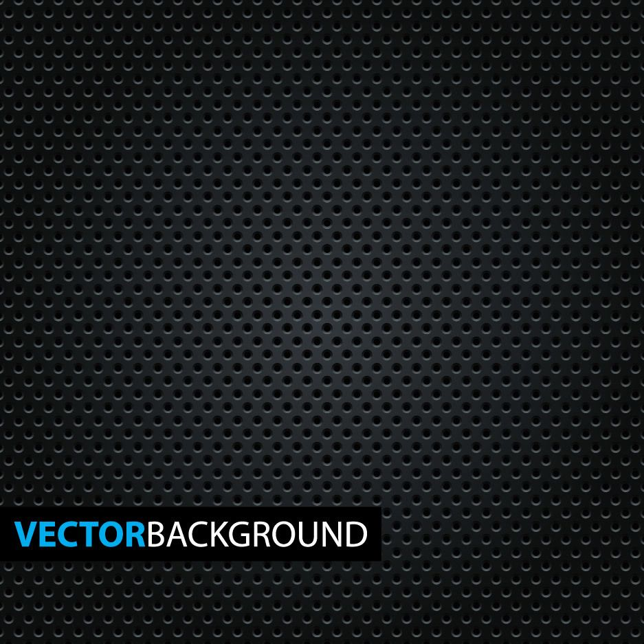 Micro Dotted Pattern on Black Background - Vector download