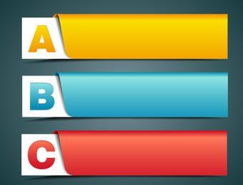Banner criativo rotulado com alfabetos