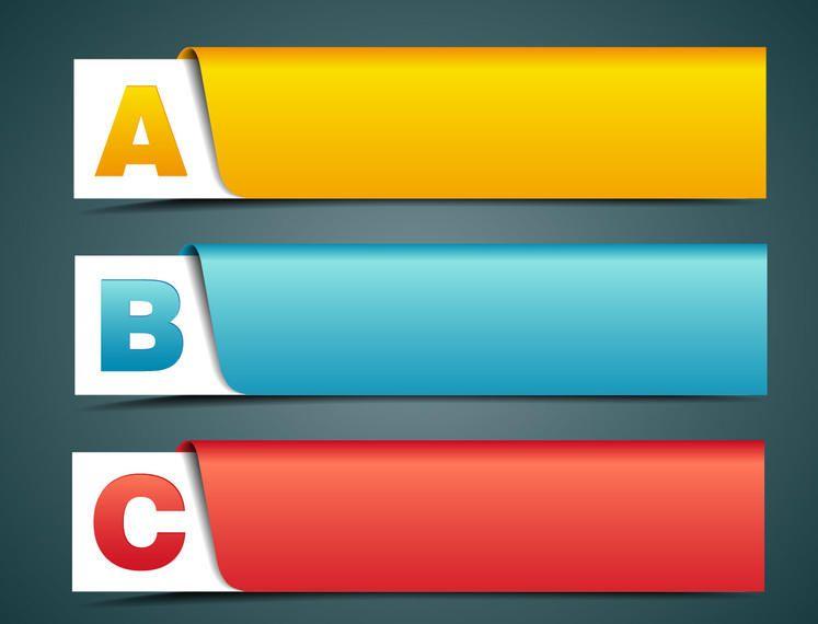 Banner Creativo Etiquetado con Alfabetos