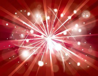 Starburst fundo com brilhos e linhas espirais