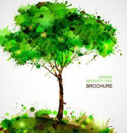 Árbol salpicado abstracto grungy creativo