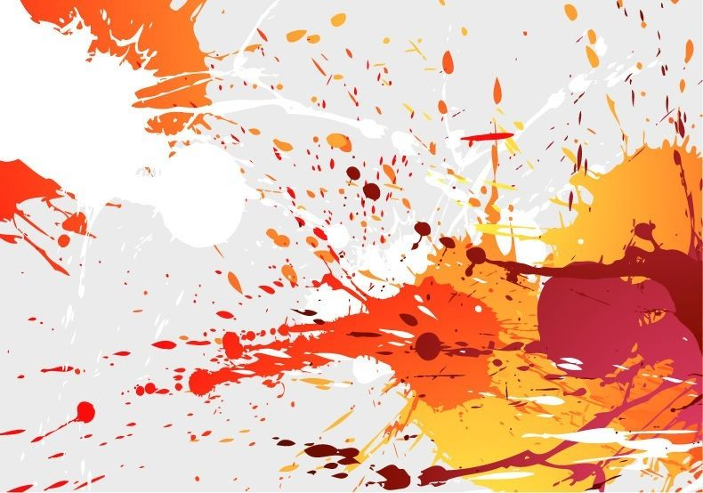 Colorful Paint Splash Background - Vector download