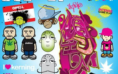 Straßen-Graffiti-Set