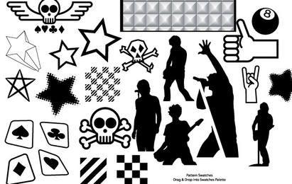 Recursos de vetor parte 4 - coleção punk