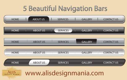 5 lindas barras de navegação na web