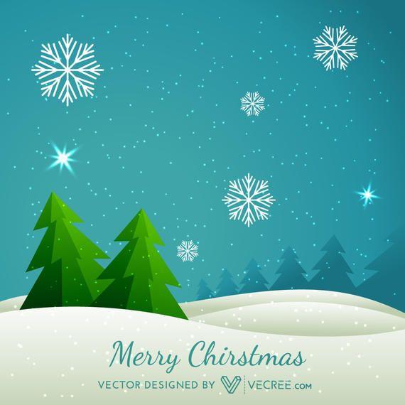 Resumen rbol de navidad en el fondo paisaje nevado - Paisaje nevado navidad ...