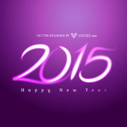 Creative Purple Light 2015 Typography