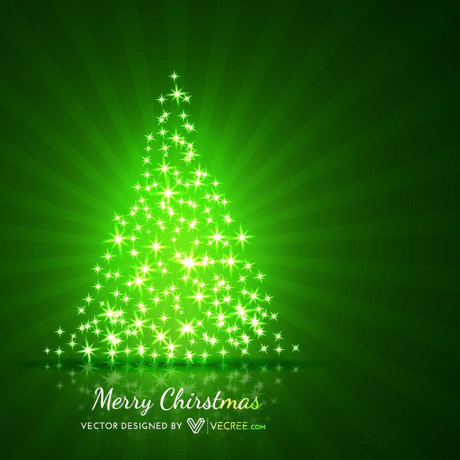 Rbol de navidad en forma de estrellas brillantes fondo for Arbol navidad verde