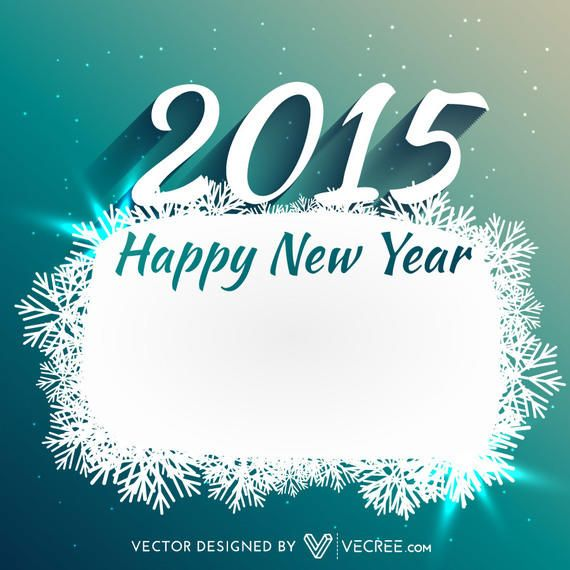 Snowflake Banner 2015 New Year Card - Vector download