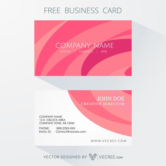 Clean Style Curves Background Business Card