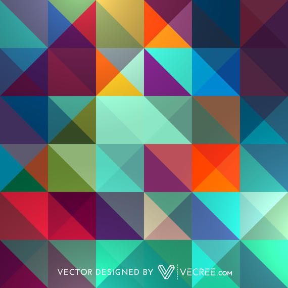 Abstract Colorful Triangles Pattern