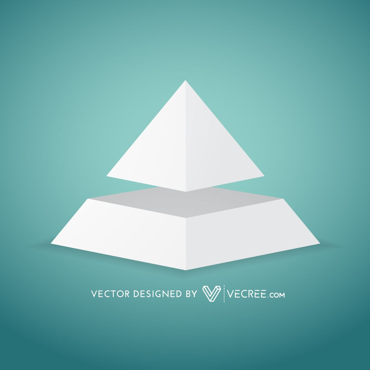 3d grey pyramid diagram template vector download image user ccuart Images