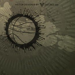 Grungy Abstract Basketball Background