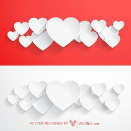 Paper Cutting Valentine Heart Bundles