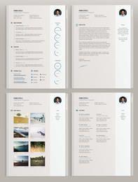 Modelo de CV de estilo clássico elegante 4 páginas