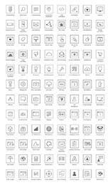 Linha Art SEO Icon Pack